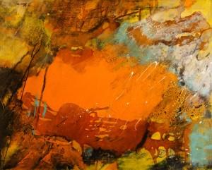 exotica. Acryl Mischtechnik auf Leinwand, 100x80x4