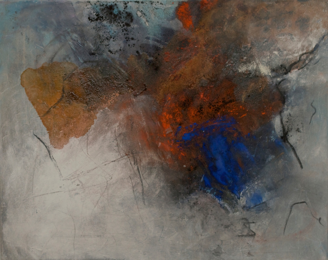 fuego y hielo 2, Acryl Mischtechnik auf Leinwand, 50x40 Ingrid Kurz