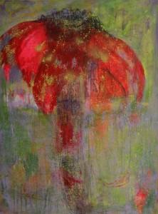 Echinacea I. Acryl Mischtechnik auf Leinwand, 100x80