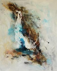 abstract painting by ingrid kurz Wasser und Land